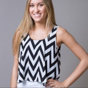 Chevron crop Top by Forever 21. Size Medium